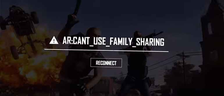 Ошибка Ar: cant use family sharing в PUBG